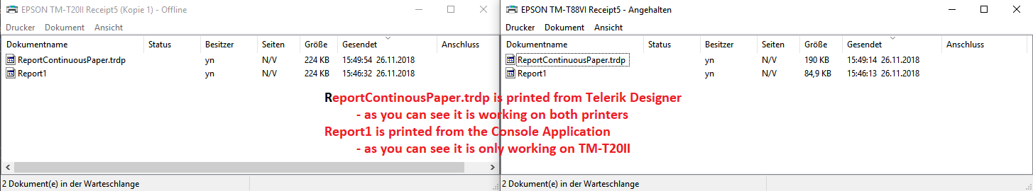 Continuous Paper not working in Reporting Reporting