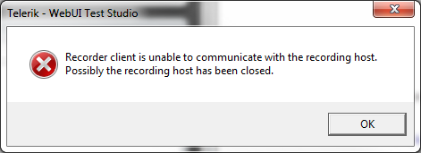 Recorder client is unable to communicate...
