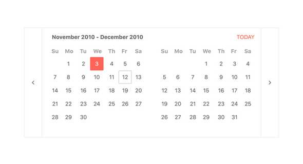 React MultiViewCalendar - Focused Date, KendoReact UI Library