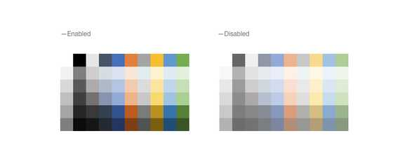 React ColorPalette - Disabled, KendoReact UI Library