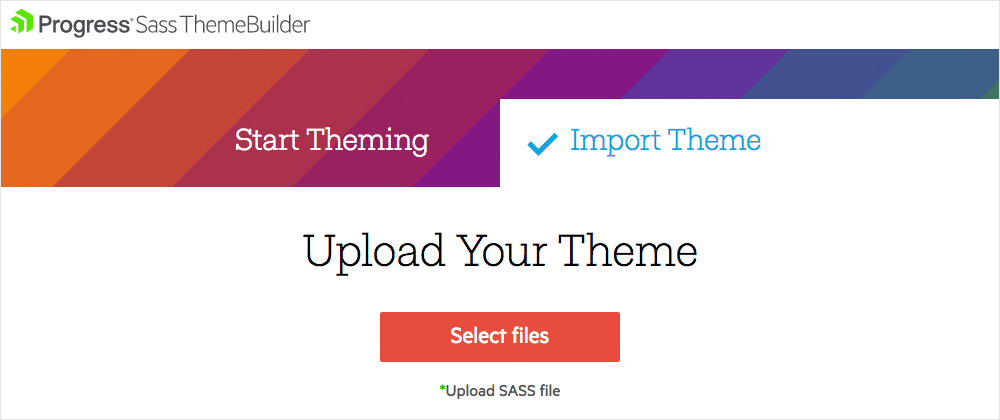 Themebuilder import existing theme