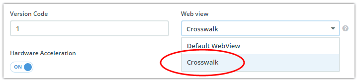 crosswalk in appbuilder