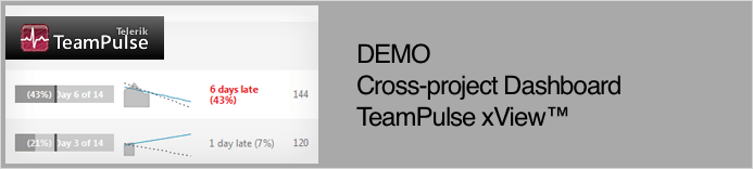 DEMO - Cross-project Dashboard TeamPulse xView