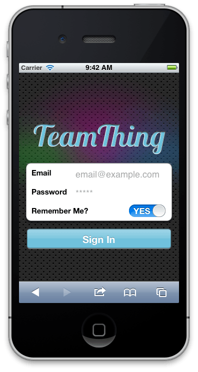 TeamThing on the iPhone