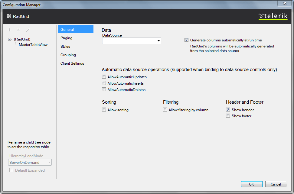 VS 2012 Grid Wizard