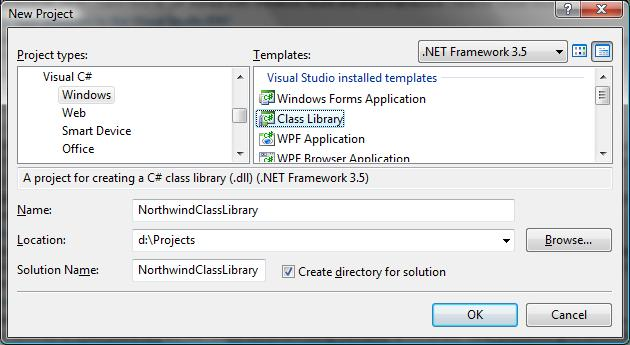 Create C# Class Library