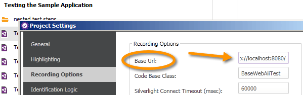 BaseURL in Project Settings