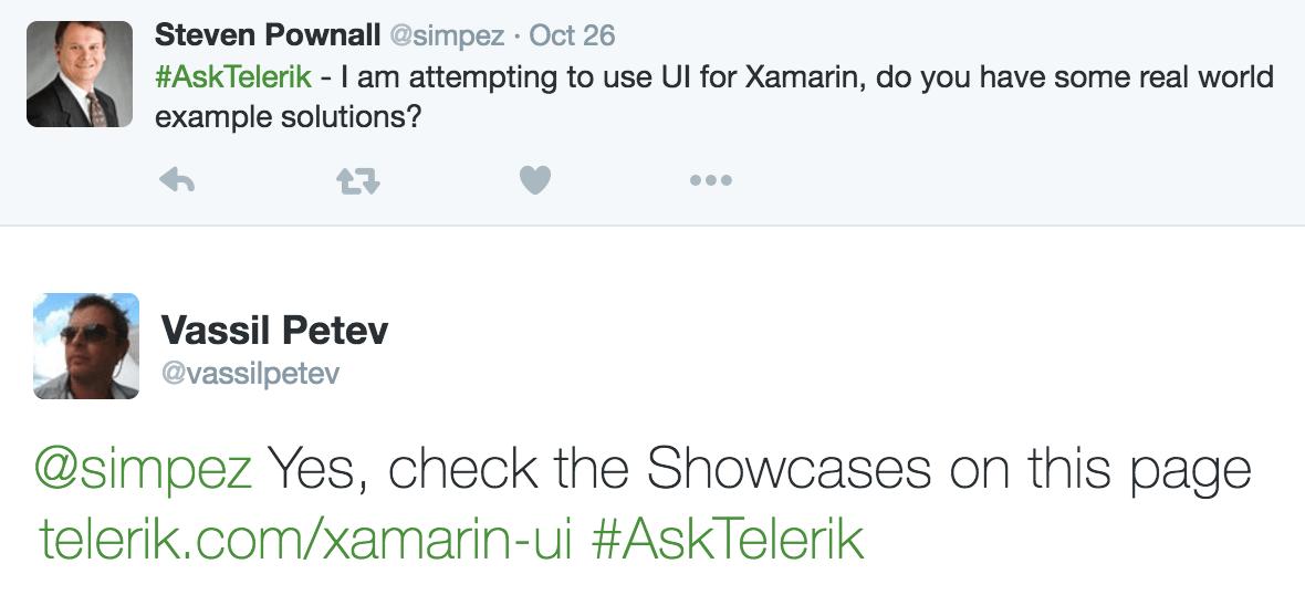 Steven Pownall Tweet from Telerik DevCraft R3 2016 Release Webinar