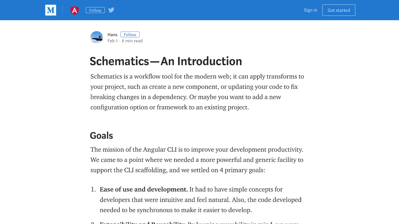 The What And How Of Angular Schematics