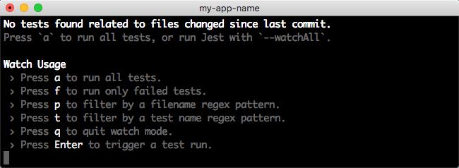 Create React App 2.0: npm test