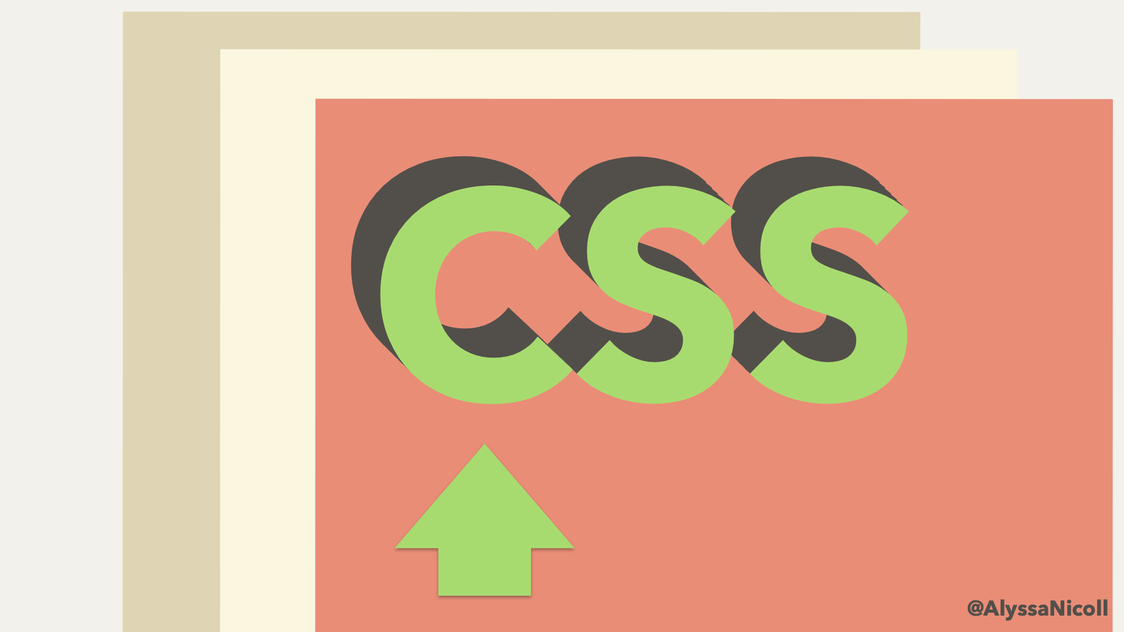 arrow pointing to the 'C' in 'CSS'
