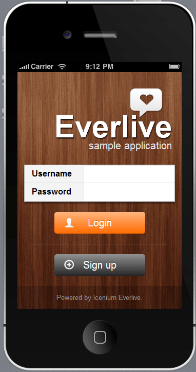 Everlive Friends App