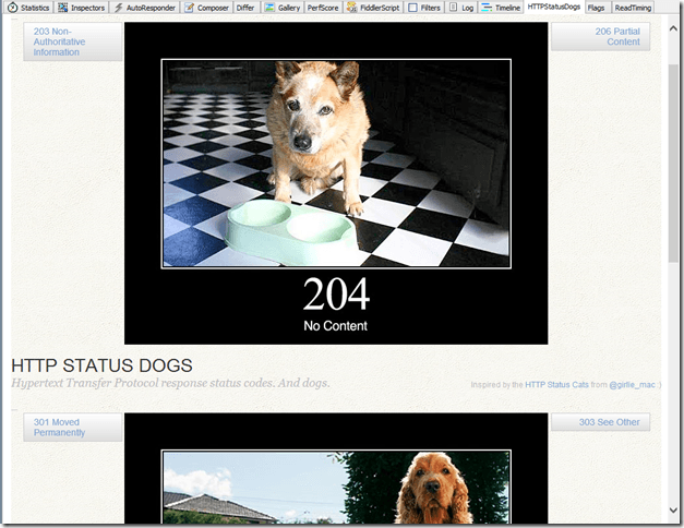 New HTTPStatusDogs tab
