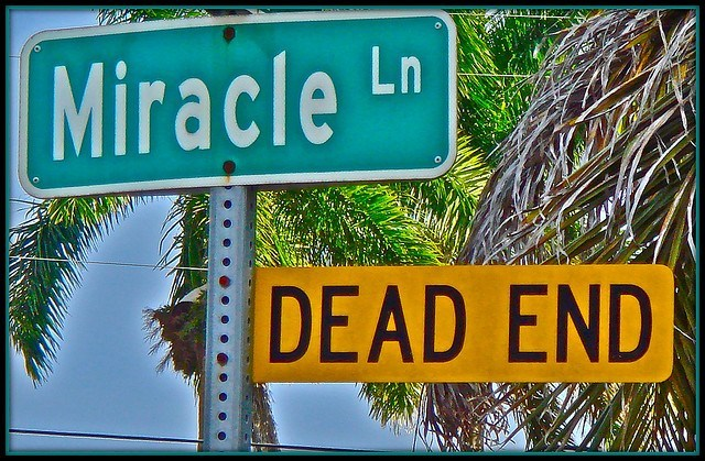 Image of a dead-end street sign