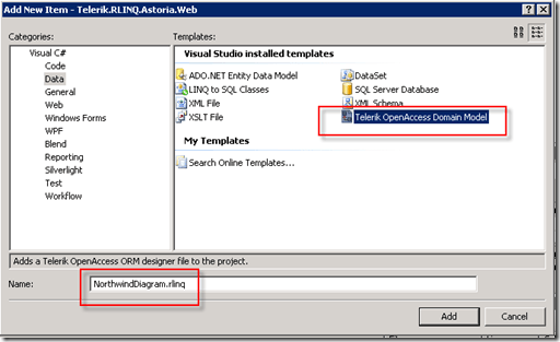 Using Telerik\'s new LINQ implementation to create OData feed