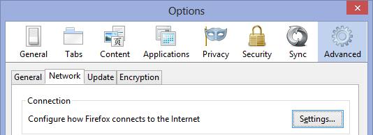 Configuring Firefox for Fiddler