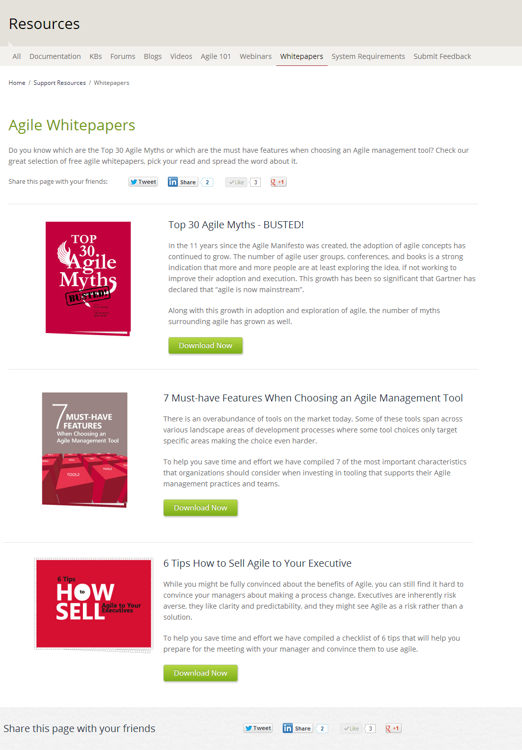 free agile whitepapers