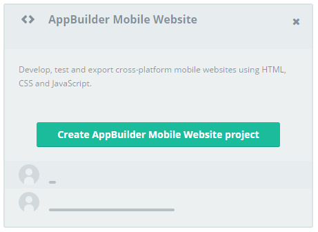 appbuilder mobile web project