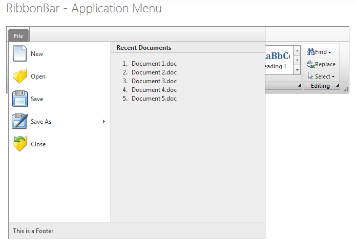 ApplicationMenu