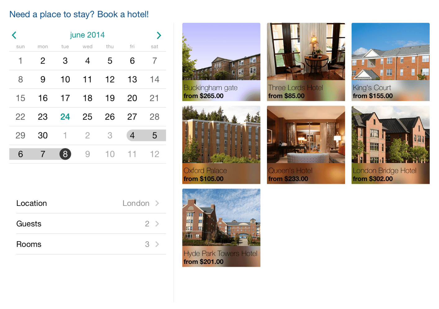 UI for iOS Calendar Multiple Selection