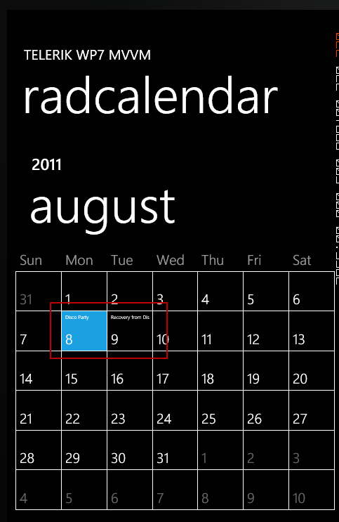 Calendar with Appointments