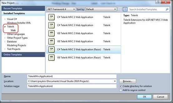 Visual Studio Extensions MVC3 support – part 1
