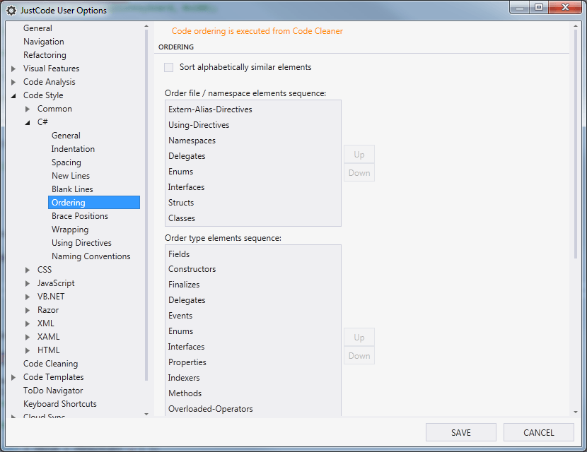 JustCode Code Style Settings for C# - Part 2