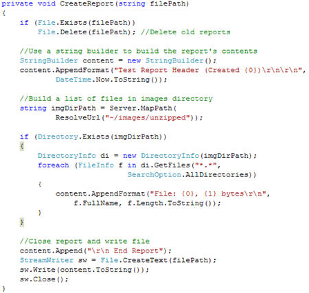 Working with Zip Files: Part II, Zipping Files