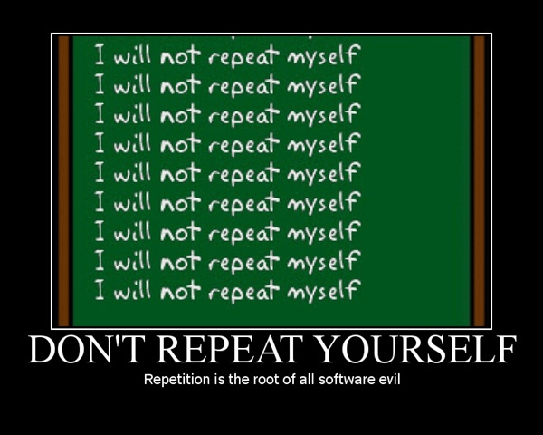 Don't Repeat Yourself image
