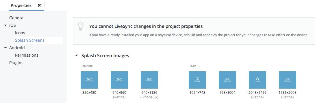 Adding Icons and Splash Screens To Your PhoneGap / Icenium P