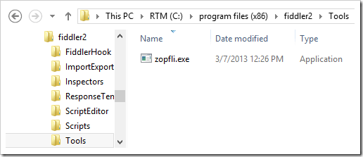 Zopfli.exe in \fiddler2\tools\ folder