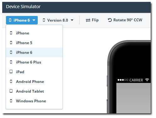 iphone 6 added to device simulator