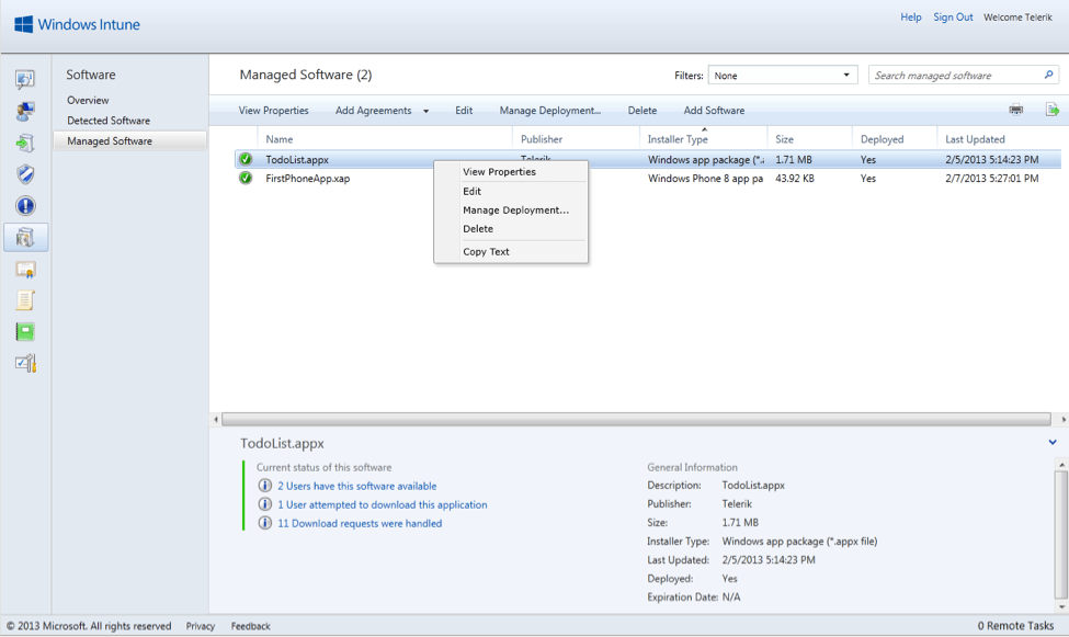 Private Enterprise App Deployment for Windows 8