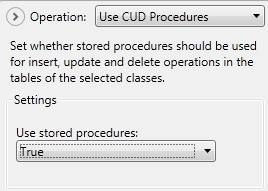 Use CUD stored procedures