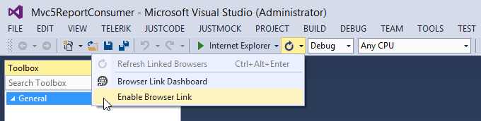 VS 2013 Browser Link