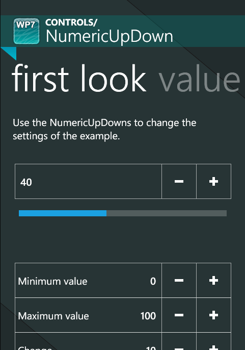 Numeric Control for Windows Phone 7