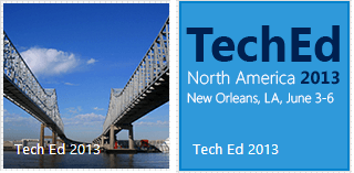 The TechEd tile and its peek content side-by-side