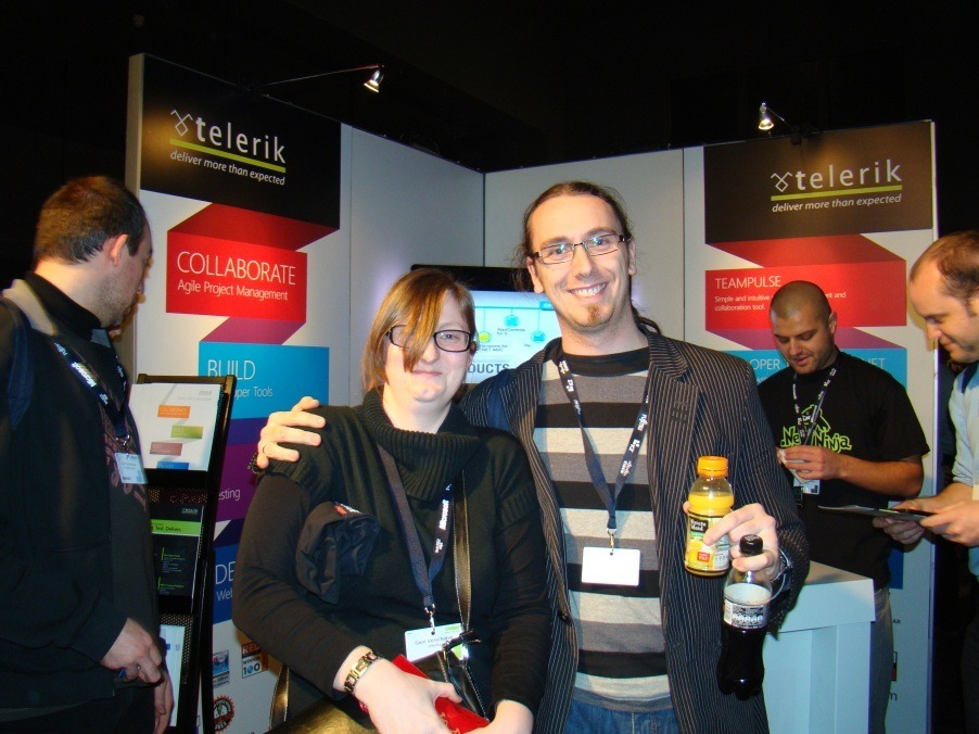 people at the Telerik booth at TechDays