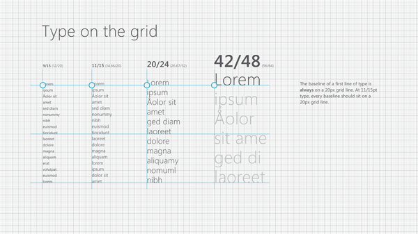Typographic grid