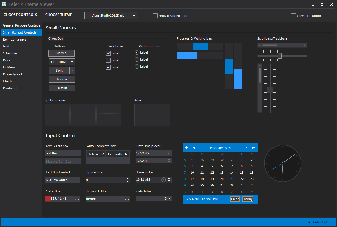 Winforms q1 2013 unveils pivotgrid pdfviewer and chartview for Telerik window