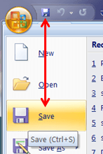 Saving in Microsoft Word