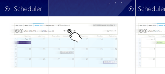 Multi-touch support for Rad Scheduler for Windows Forms