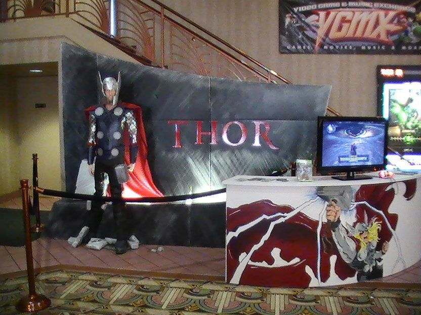 Thor Set Up at the Cinema
