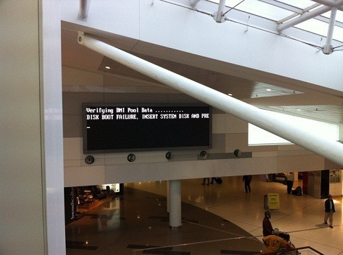 Sydney Airport boot disk failure