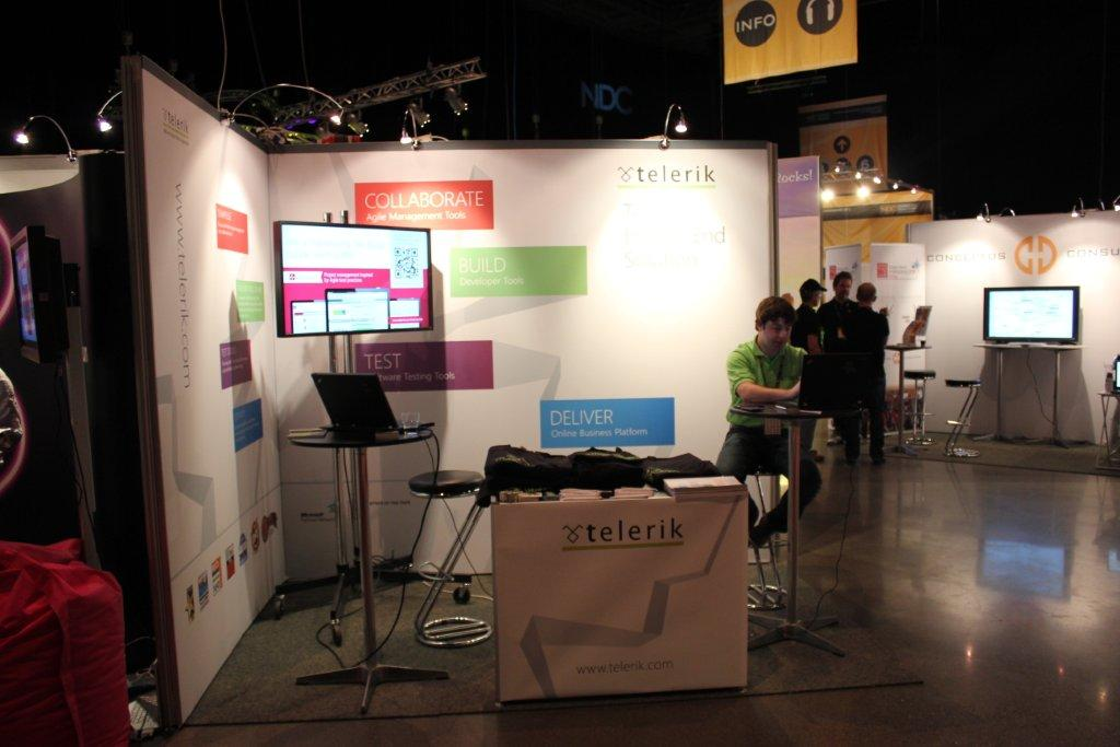 Telerik Booth at NDC 2012