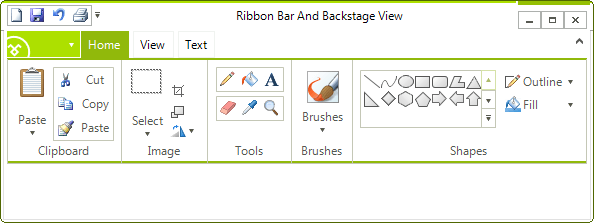 Metro style for Rad RibbonBar for Windows Forms