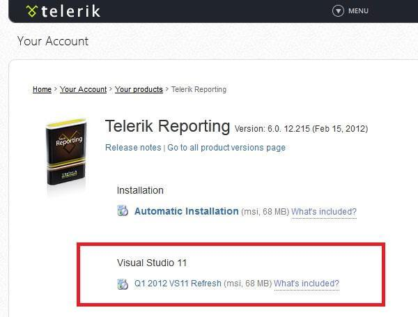 Telerik Reporting Visual Studio 11 Download