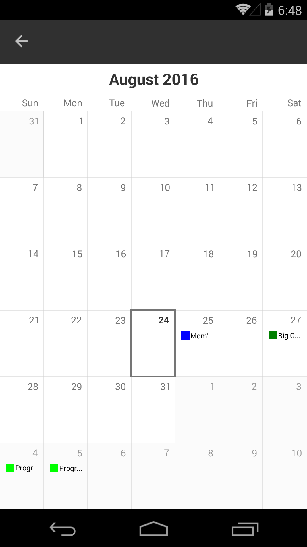 calendar-android
