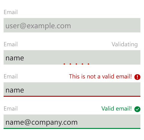 Validation States