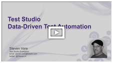 Telerik TV: Data-Driven Test Automation Using Test Studio